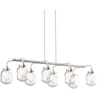 DVI DVP22702SN-CL Lexington 8 Light 44 inch Satin Nickel Linear Pendant Ceiling Light