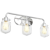 DVI DVP22743CH-CL Lexington 3 Light 25 inch Chrome Vanity Wall Light