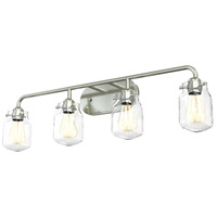 DVI DVP22744CH-CL Lexington 4 Light 35 inch Chrome Vanity Wall Light