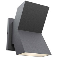 DVI DVP23301BK Kwall LED 7 inch Black Outdoor Sconce