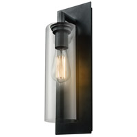 DVI DVP24772BK-CL Barker 1 Light 14 inch Black Outdoor Wall Mount