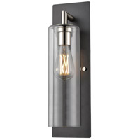 DVI DVP24772SN+GR-CL Barker 1 Light Satin Nickel and Graphite Sconce Wall Light