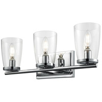 DVI DVP24943CH-CL Dallaire 3 Light 20 inch Chrome Vanity Wall Light