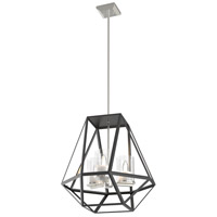 DVI DVP25648BN/GR Givenchy 3 Light 21 inch Buffed Nickel and Graphite Pendant Ceiling Light