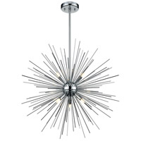 DVI DVP26020CH Starburst LED 26 inch Chrome Pendant Ceiling Light