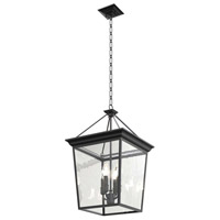 Forest Hill 4 Light Stainless Steel Semi Flush Mount Ceiling Light