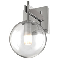 DVI DVP27001CH-CL Courcelette 1 Light 6 inch Chrome Wall Sconce Wall Light