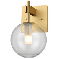 DVI DVP27001VBR-CL Courcelette 1 Light 6 inch Venetian Brass Wall Sconce Wall Light