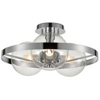 DVI DVP27011CH-CL Courcelette 3 Light Chrome Semi-Flush Mount Ceiling Light