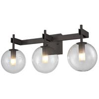 DVI DVP27043GR-CL Courcelette 3 Light 17 inch Graphite Vanity Light Wall Light
