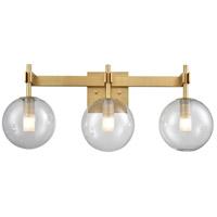 DVI DVP27043VBR-CL Courcelette 3 Light 17 inch Venetian Brass Vanity Light Wall Light