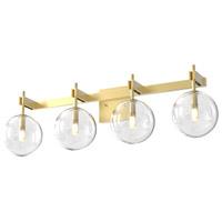 DVI DVP27044VBR-CL Courcelette 4 Light 26 inch Venetian Brass Vanity Light Wall Light