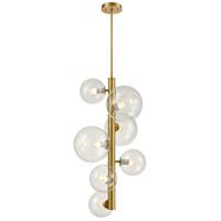 DVI DVP27049VBR-CL Courcelette 7 Light Venetian Brass Foyer Ceiling Light