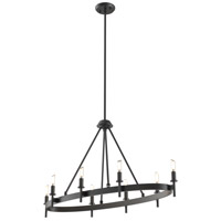 Cambrai 8 Light 36 inch Graphite Linear Chandelier Ceiling Light
