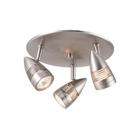 DVI Lighting Bullet 3 Light Track On Pan in Satin Nickel DVP2783SN