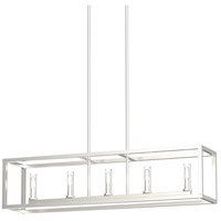 DVI DVP28102MF+BN-CL Sambre 5 Light 36 inch Multiple Finishes and Buffed Nickel Linear Ceiling Light