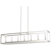 DVI DVP28104MF+BN-CL Sambre 7 Light 52 inch Multiple Finishes and Buffed Nickel Linear Ceiling Light
