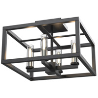 DVI DVP28112MF/GR-CL Sambre 4 Light 14 inch Multiple Finishes and Graphite Semi-Flush Mount Ceiling Light