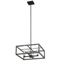 DVI DVP28120MF/GR-CL Sambre 4 Light 18 inch Graphite Pendant Ceiling Light