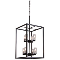 DVI DVP28148MF/GR-CL Sambre 8 Light 16 inch Graphite Foyer Pendant Ceiling Light