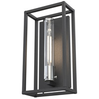 DVI DVP28173SS/HB-CL Sambre 1 Light 15 inch Stainless Steel and Hammered Black Outdoor Sconce