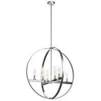 DVI DVP28850CH/SN-CL Mont Royal 8 Light 28 inch Chrome and Satin Nickel Orb Pendant Ceiling Light