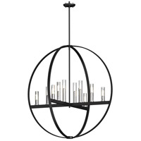 DVI DVP28851CH/GR-CL Mont Royal 12 Light 37 inch Chrome and Graphite Orb Pendant Ceiling Light