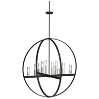 DVI DVP28851SN/GR-CL Mont Royal 12 Light 37 inch Satin Nickel and Graphite Orb Pendant Ceiling Light photo thumbnail