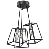 DVI DVP29011BN/GR Cape Breton 3 Light 17 inch Buffed Nickel and Graphite Semi Flush Mount Ceiling Light