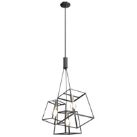 DVI DVP29023BN/GR Cape Breton 3 Light 26 inch Buffed Nickel and Graphite Cluster Pendant Ceiling Light