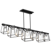 DVI DVP29041MF+EB Cape Breton 7 Light 57 inch Multiple Finishes and Ebony Linear Ceiling Light