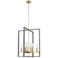 DVI DVP30249VBR+GR-CL Blairmore 8 Light 23 inch Venetian Brass and Graphite Foyer Ceiling Light