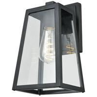 DVI DVP30770BK-CL Moraine Outdoor 1 Light 12 inch Black Outdoor Sconce