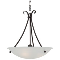 Georgian 3 Light 16 inch Mocha Pendant Ceiling Light