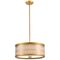 DVI DVP33920VBR-SW Tortona 2 Light Venetian Brass Pendant Ceiling Light