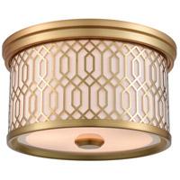 DVI DVP33932VBR-SW Tortona 2 Light Venetian Brass Flush Mount Ceiling Light