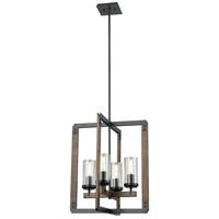 DVI DVP38648GR+IW-CL Okanagan 4 Light 18 inch Graphite and Ironwood Foyer Ceiling Light
