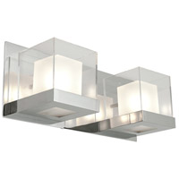 DVI DVP3922CH-OP Narvik 2 Light 15 inch Chrome Vanity Wall Light