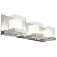 DVI DVP3943CH-OP Narvik 3 Light 24 inch Chrome Vanity Wall Light