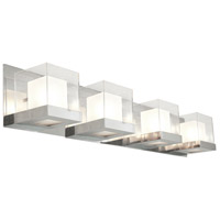 DVI DVP3944CH-OP Narvik 4 Light 36 inch Chrome Vanity Wall Light