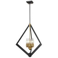 DVI DVP40148BR+GR Flechette 6 Light Brass and Graphite Foyer Ceiling Light