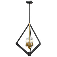 Brass and Graphite Foyer Pendants