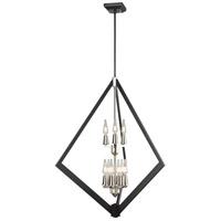DVI DVP40149SN+GR Flechette 9 Light Satin Nickel and Graphite Foyer Ceiling Light