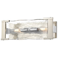 DVI DVP42922CH+BN-ARW Georgian Bay 2 Light 14 inch Chrome and Buffed Nickel Vanity Light Wall Light