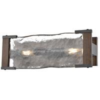 DVI DVP42922GR+IW-ARW Georgian Bay 2 Light 14 inch Graphite and Ironwood Vanity Light Wall Light