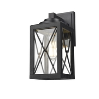 DVI DVP43371BK-CL County Fair Outdoor 1 Light 12 inch Black Outdoor Sconce