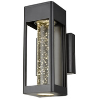 DVI DVP43571BK-SDY Geyser Outdoor LED 10 inch Black Outdoor Sconce photo thumbnail