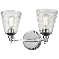 DVI DVP43722CH-BHC Campbellville 2 Light 15 inch Chrome Vanity Light Wall Light