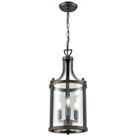 DVI DVP4410GR/IW Niagara 3 Light 10 inch Graphite and Iron Wood Pendant Ceiling Light