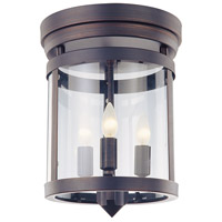 DVI DVP4432ORB Niagara 3 Light 12 inch Oil Rubbed Bronze Flush Mount Ceiling Light
